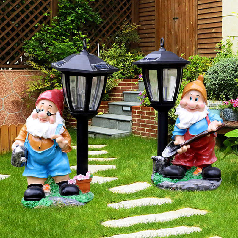 Mini Resin Garden Gnome  Landscape Decoration Outdoor Fairy Miniature  Dwarf