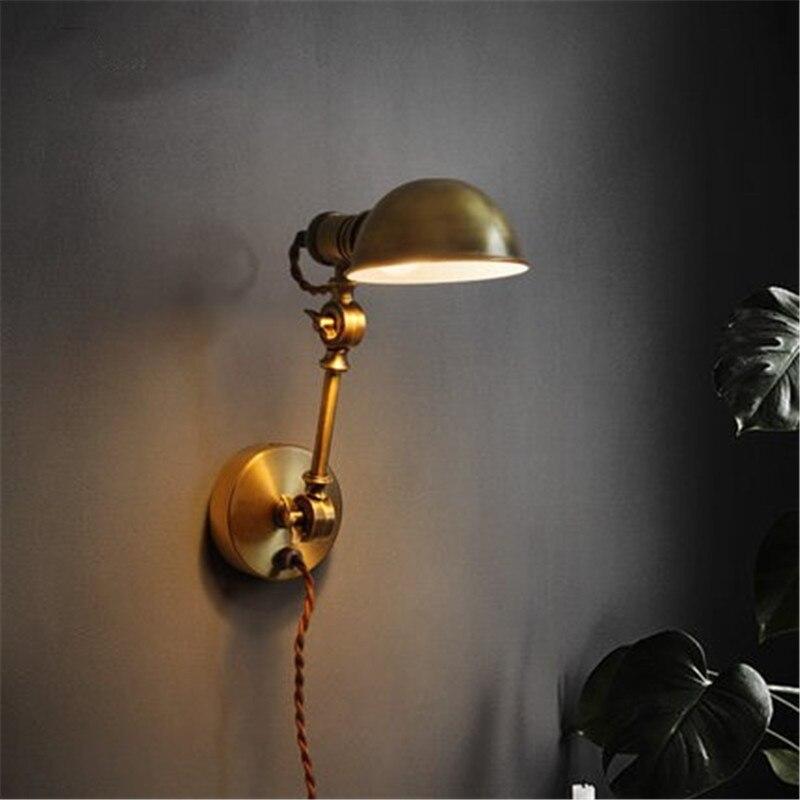 Industrielle RH Studio lampe murale Moderne sweat tricoté Art De Cuivre De Fer De Chevet Miroir Lumineux lampe murale Appareils Livraison Gratuite