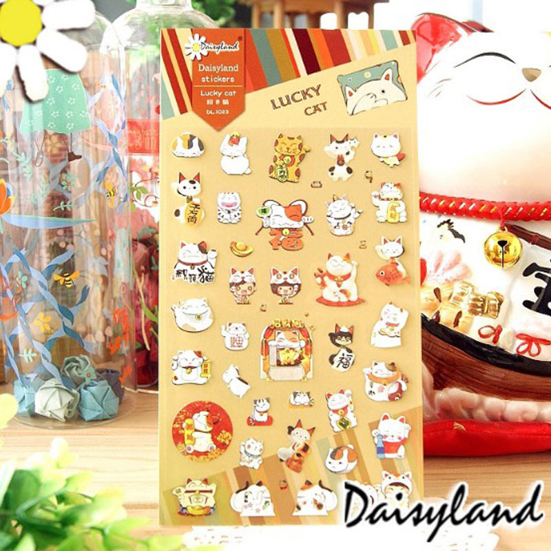 2018 New Yiwi 2 Sheets/ lot Daisyland Cartoon Cat DIY Paper Material Sticker for Planner Computer Moblie Phone аксессуар для волос brand new 2 lot hairdisk