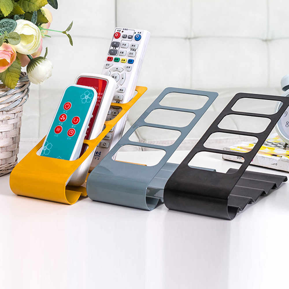 TV/DVD/VCR Organiser 4 Frame Remote Control Storage Mobile Phone Holder Stand Home Office Storage Sorting Organizer Hot Sale #80