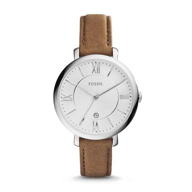 Montre en cuir de cèdre fossile Jacqueline marque montres à Quartz pour femmes-ME3842