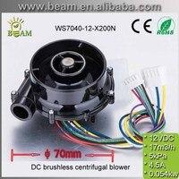 2 قطع 70 * 40mm12V عالية السرعة مايكرو فرش dc مروحة أداء ممتاز 12 فولت dc المنفاخ مع 17m3/h 5Kpa الضغط