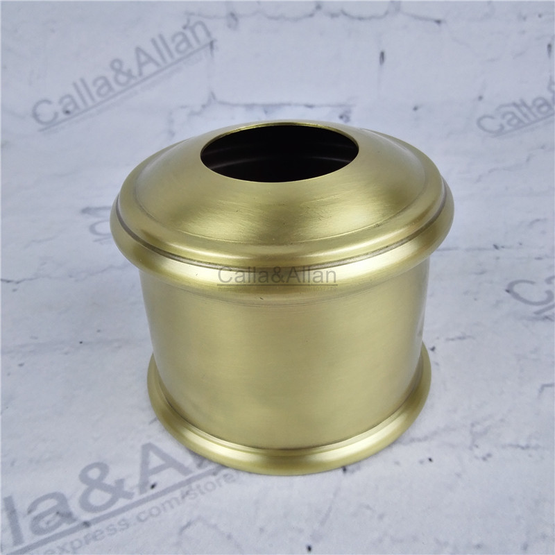 M40 D95mmX75mm small size brass material light cover copper base cup quality E27 lamp shade cover lighting brass shade cone