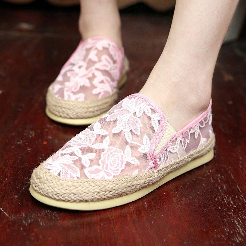 font b women b font shoes flat shoe hole net surface breathable 2016 summer spring