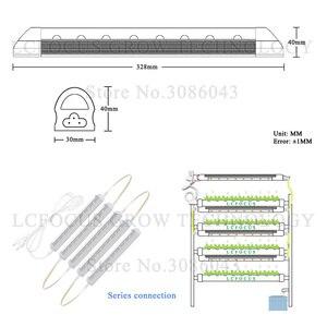"Image 3 - משתלת T8 300 מ""מ 24 W לגדול אור הידרופוניקה 380 840nm ספקטרום מלא צינור לבן לגדול LED AC 85 265 V LED צמח מקורה צמיחה"