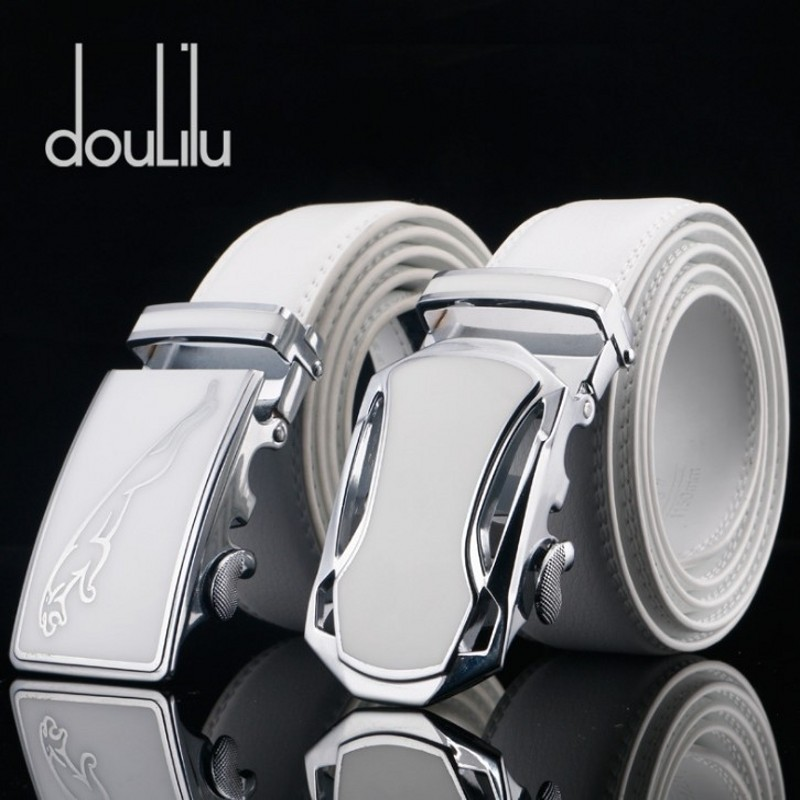 Doulilu   Belt   Men Luxury Famous Brand Designer High Quality Male Genuine Leather Strap White Automatic Buckle   Belt   Ceinture Homme
