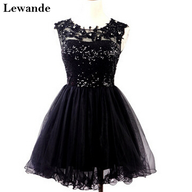 Fashion Short Sequined Beaded Homecoming Dress For Teens Lewande A