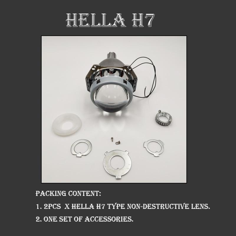 Image 5 - SZDS автомобильный Стайлинг Авто головной свет 3,0 дюймов би ксенон объектив проектора HELLA H7 без потерь неразрушительный H1 H3 H4 H7 H11-in Аксессуары для фар авто from Автомобили и мотоциклы