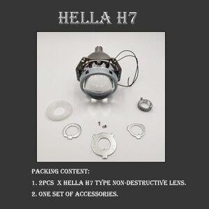 Image 5 - SZDS Car styling Auto luz da cabeça 3.0 polegada Bi xenon Lente Do Projetor HELLA H7 Sem Perdas Não destrutivo H1 H3 h4 H7 H11