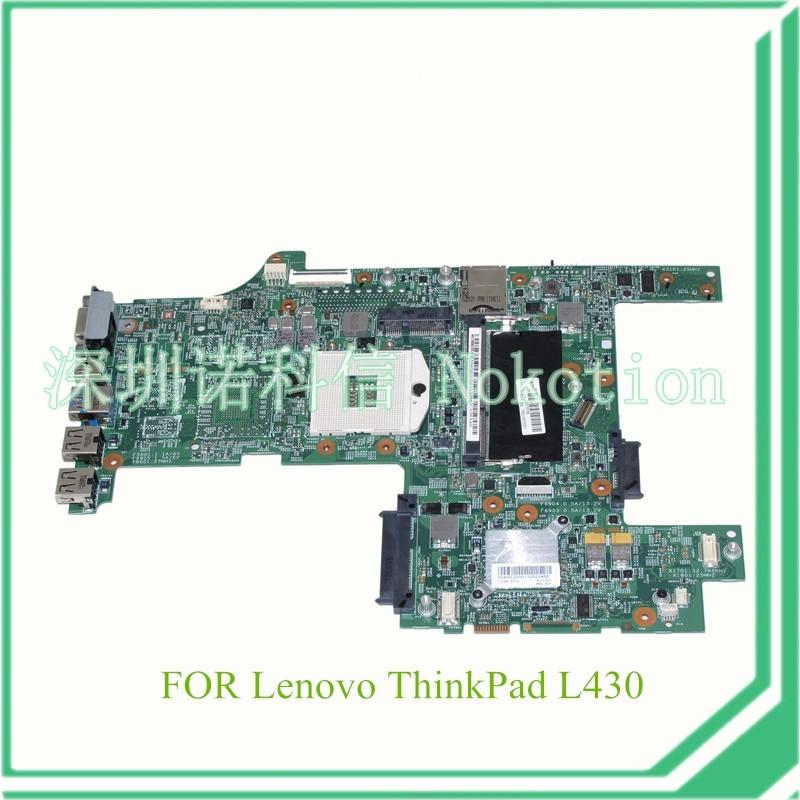 NOKOTION FRU 04Y2001 For lenovo thinkpad L430 14'' Laptop motherboard HD4000 DDR3 nokotion fru 04y1167 qile1 la 8131p for lenovo thinkpad edge e430 laptop motherboard hm77 hd4000 ddr3 systems board