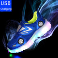 2016 New children sneakers With light cool car kids boys usb led sport shoes enfant child fashion breathable students sneakers