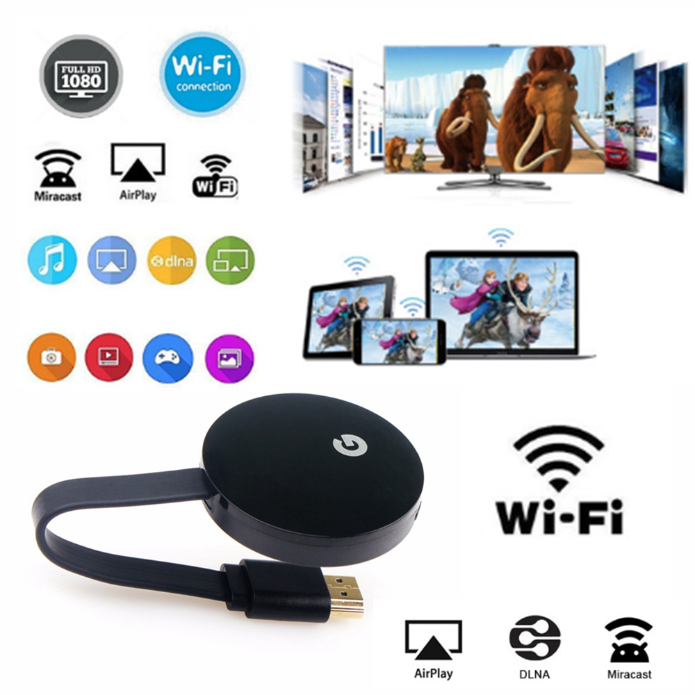 WiFi Display HD TV Wireless Dongle For Google Chromecast 2 Support For Netflix/youtube/ Hulu Plus/IMDB/Quickflix/Family On TV et ...