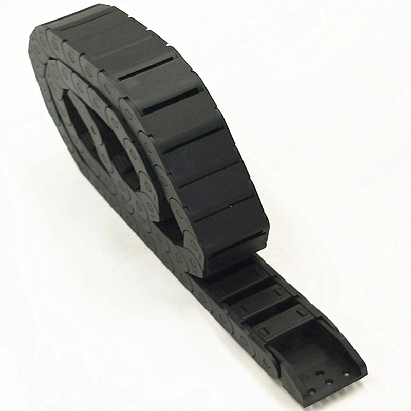 High-quality 1m 15 X 30mm R28 Plastic Nylon Wire Carrier Cable Drag Chain Semi Enclosed Inner Open CNC 18 x 50mm 1m semi enclosed type drag chain wire carrier black