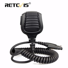 New Retevis Speaker Microphone PTT For Retevis RT82 Dual Band DMR VHF UHF Walkie Talkie MIC Accessories J9127M