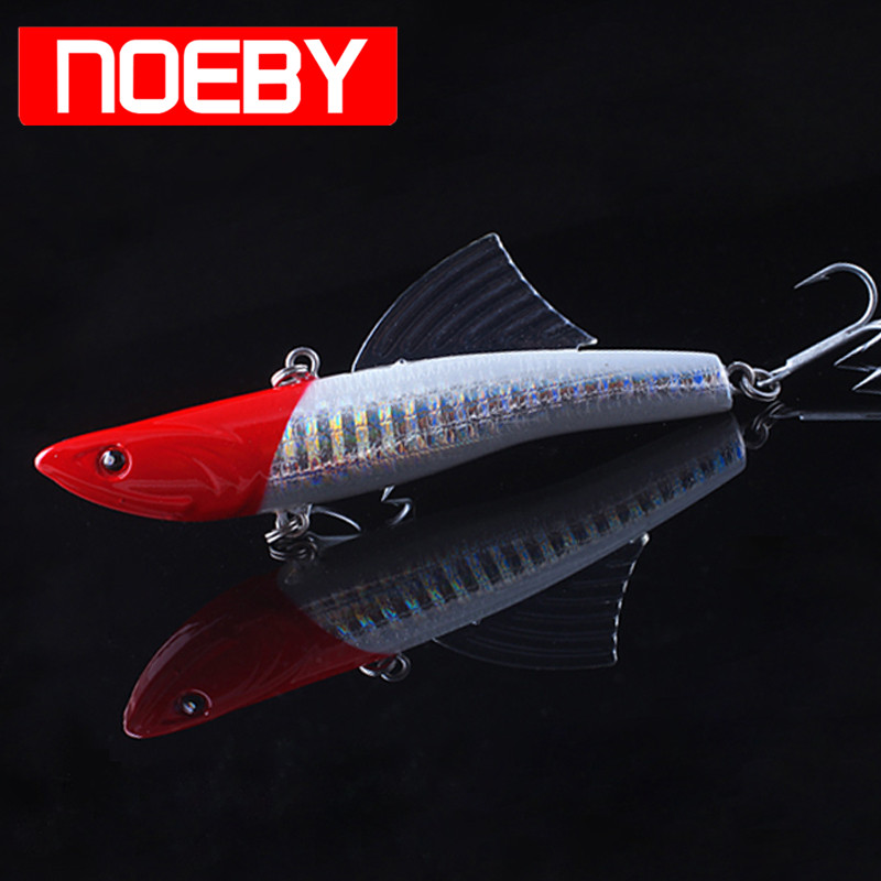 2017 NOEBY Fishing Lure VIB 90mm 28g Sinking 0.5-2.0m Isca Artificial Hard Bait Leurre Souple Peche Vibrator De Pesca Wobbler noeby nbl9062 fishing lures 66g 140mm pencil sinking leurre peche mer brochet hard fishing bait