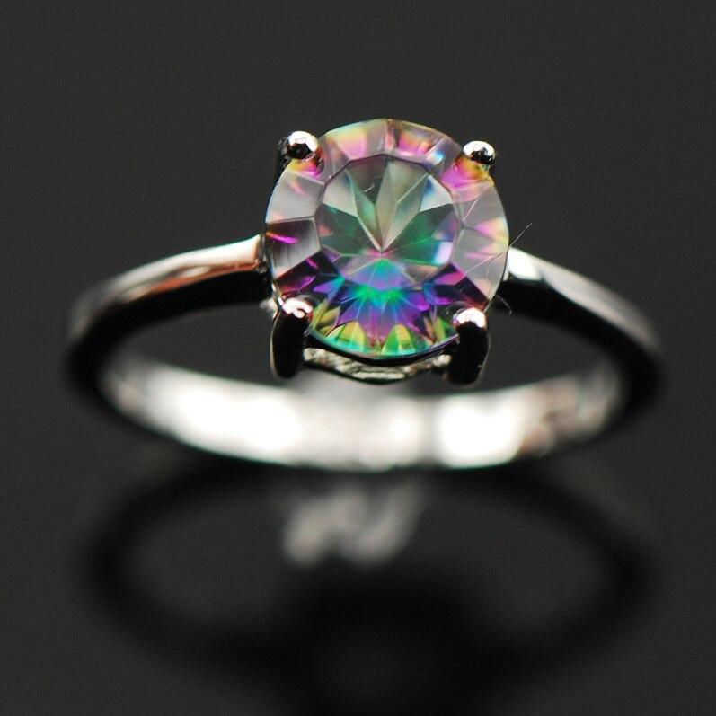 Udubljenje izrezati Duga Mystic Crystal Cirkon 925 Sterling Silver - Modni nakit - Foto 2