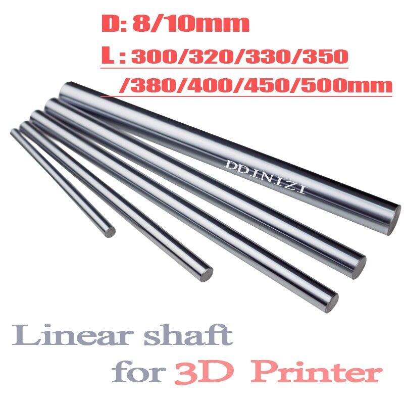 Axe optique 300 320 350 380 400 450 500 mm tiges lisses 8mm linéaire arbre Rail 3D imprimantes pièces Chrome plaqué Guide diapositive partie