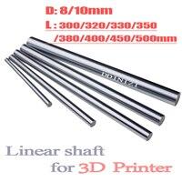 Optische As 300 320 350 380 400 450 500mm Gladde Staven 8mm Lineaire As Rail 3D Printers Onderdelen chrome Plated Geleidingseenheden Deel
