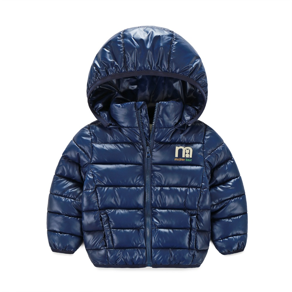 Retail Winter classic brand kids thick outerwear down-filled jacket children's hoodies wear boys warm cotton-padded girls coat