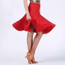 Customized Latin salsa tango rumba Cha cha Ballroom Dance Dress skirt square  black red white Girl kid Women