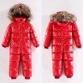 2017 Младенческой костюм ребенка зимой комбинезон ползунки вниз зима теплая ребенка ползунки мальчики зима толстые комбинезон девочки snowsuit пальто