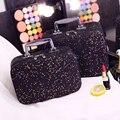 Coreano de Gran Capacidad portátil Bolsas de Cosméticos Caja de Caja de Exhibición de La Joyería Neceser de viaje Bolsa de Maquillaje Bigs tamaño y Pequeño tamaño de Belleza caso