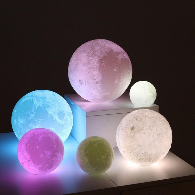 Infitary Brand New 3D Printer Application Touch Sensor PLA 3D Moon Light USB Color Changing LED Great Gift