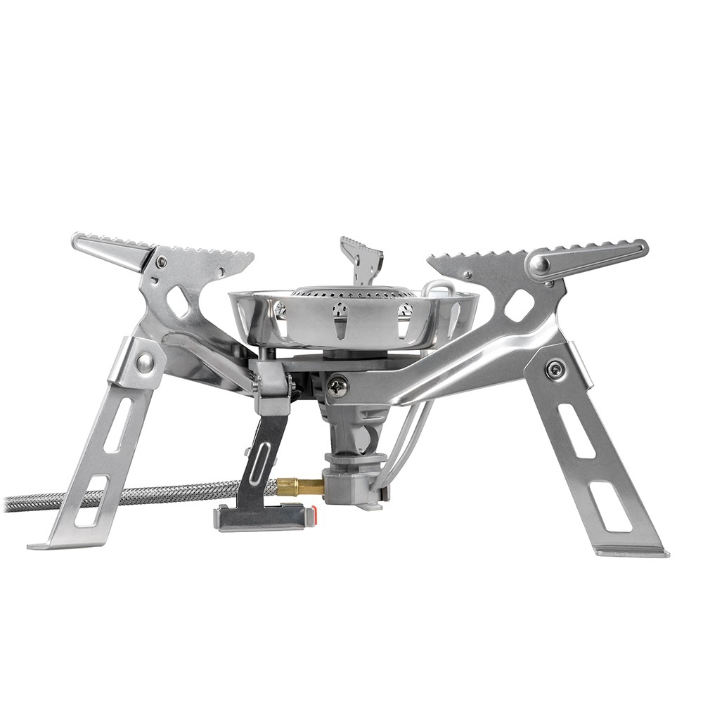 Fire Maple HardRock Outdoor Camping Camping Hiking Windproof Big Burner Gas Stove Cooking Stove Stove Equipment 3600W FMS-123 fire maple fmw 503 outdoor portable 5 folding 9 section camping cooking stove windshield silver
