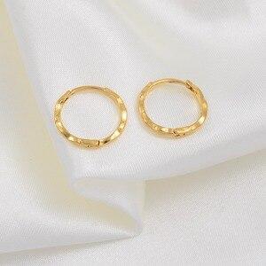 Image 4 - Anniyo 12 pares/diâmetro 1.5 cm marshall primavera anel brincos cor do ouro para mulheres meninas kiribati jóias micronésia presentes #163306