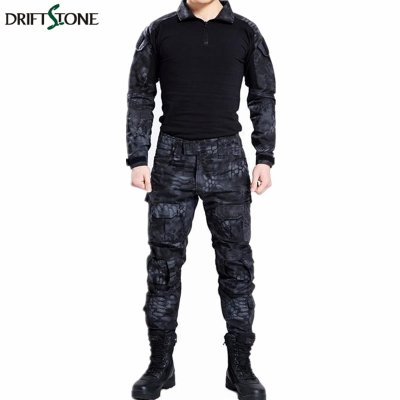 Paintball tactical camouflage military uniform camouflage combat suit military clothing for hunting and fishing shirt and pants Велюр