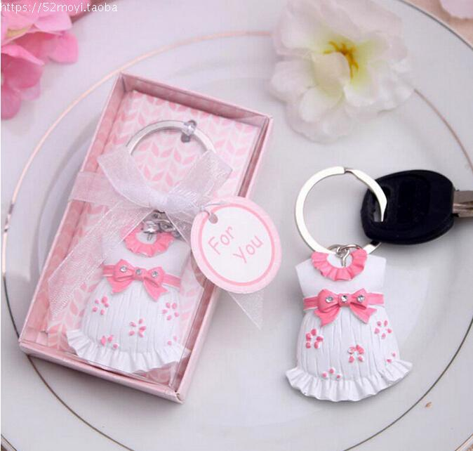 100pcss baby clothes keychain party favors baby shower gifts wedding favors and gifts guests gift box