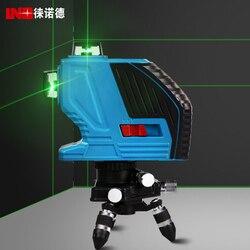 Nowy LND 12 linii 3D zielony laser ścienne miernik laserowy linia instrumentem