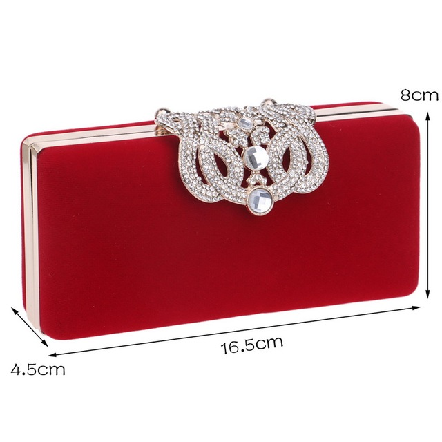 Evening bag Crown rhinestones purse – shoulder bag
