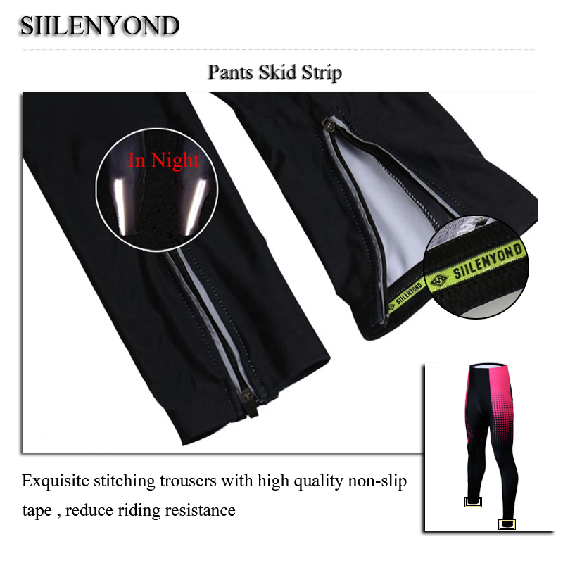 Siilenyond 2019 Pro Women Winter Thermal Cycling Pants MTB Bicycle Cycling Tights Mountain Bike Trousers With 3D Gel Padded 8