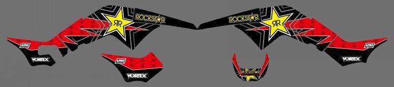 0346 Star nouveau Style autocollants autocollants Kits graphiques pour Honda TRX250R TRX 250R fourtrax TRX 250 R