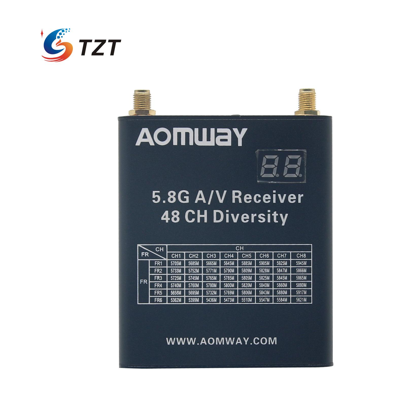 Aomway 5.8G A/V Receiver 48 CH FPV Telemetry Diversity DVR Image for RC Aircraft Multicopter hot new aomway rx006 dvr 5 8g 48ch diversity raceband a v receiver with built in video recorder