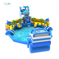Customized PVC inflatable water park For childern funny sport games for commercial use Outdoor Activity kids fun