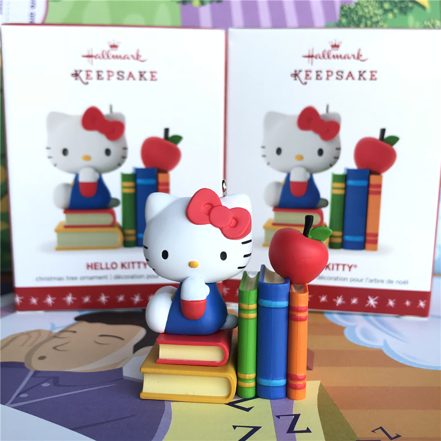 Us 11 89 18 Off 1pcs 6cm Hello Kitty Figure Toys Kitty Christmas Tree Ornament Pvc Action Figures Decoration Toys In Action Toy Figures From Toys
