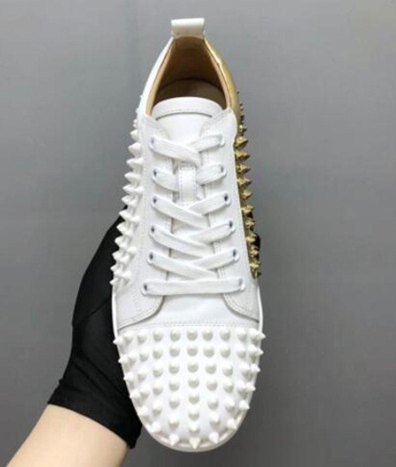 Couleurs Mélangées As Air Hommes Cuir Luxe Plein En Hombre Loisirs Picture Spikes De Chentel Pour Zapatos Rivet Marche Noble Chaussures Ac34Lq5Rj