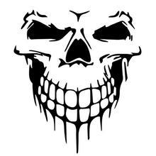 40cm x 36cm Cool Car Sticker Fashion Skull Punk Wall Decal Car Styling Sticker DIY Hot Stickers for Mercedes Benz W204 W205 W124 carcardo 40cm x 200cm car headlight taillight tint vinyl film sticker car smoke fog light viny stickers decals car styling