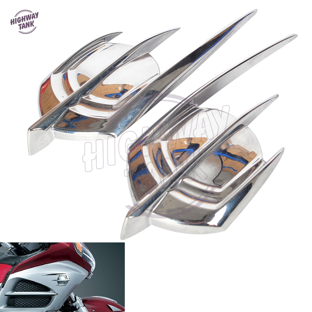 Motorcycle Chrome Falcon Fairing Emblem Cover Case for Honda Goldwing 1800 GL1800 2012 2013