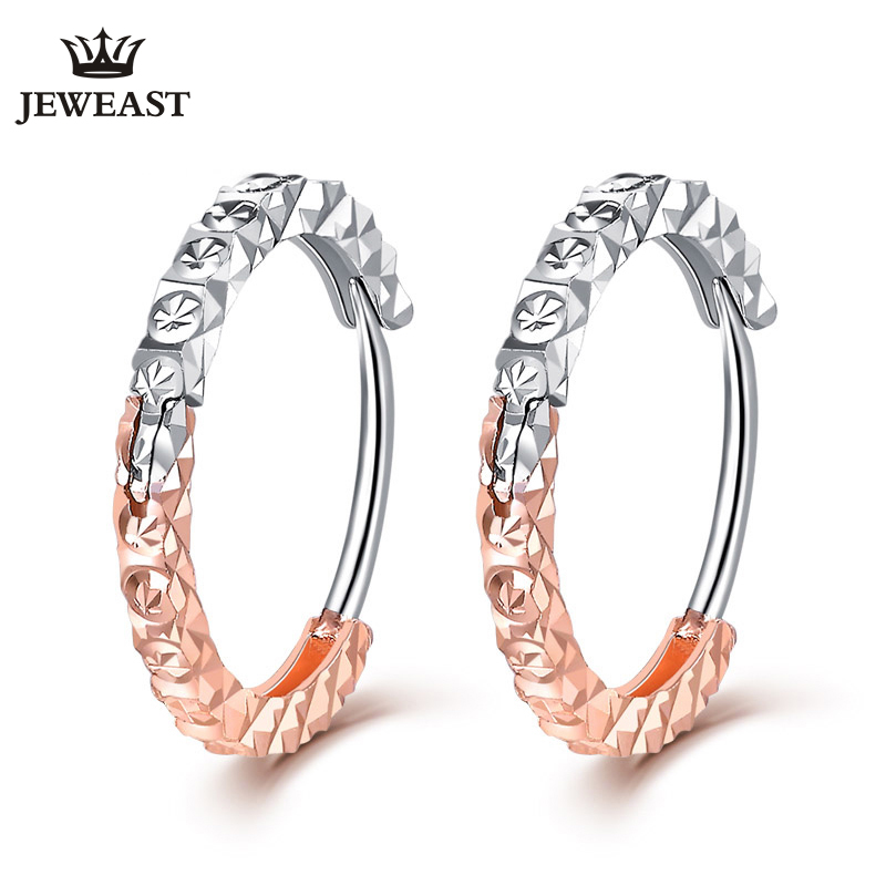 18K Pure Gold Earring Real AU 750 Solid Gold Earrings Nice Brightly Upscale Trendy Classic Party Fine Jewelry Hot Sell New 2018