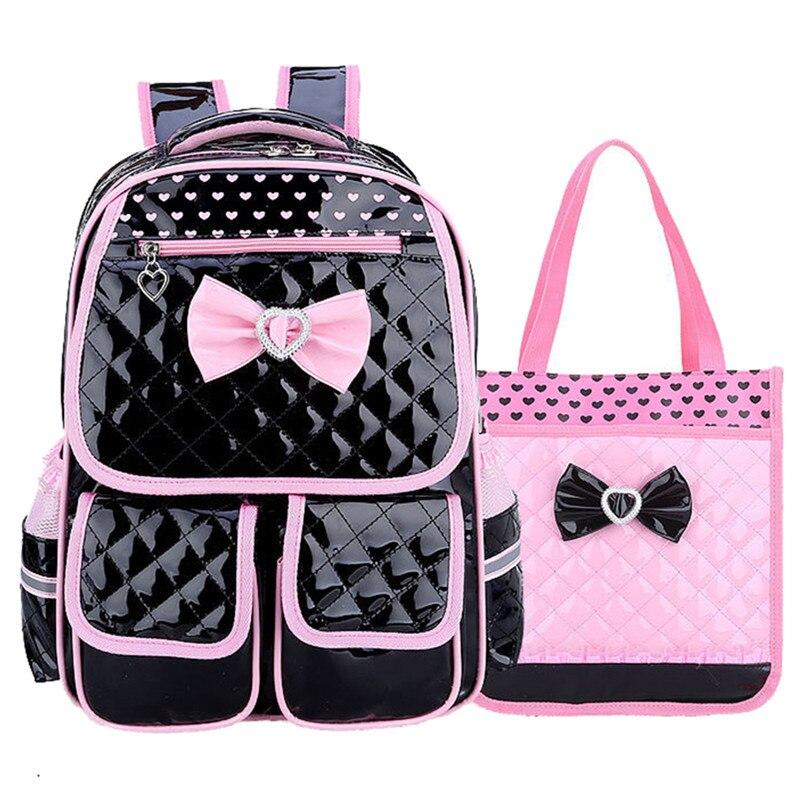 2pcs School Bags For Girls Children/'s Backpack Orthopedic Waterproof Kids