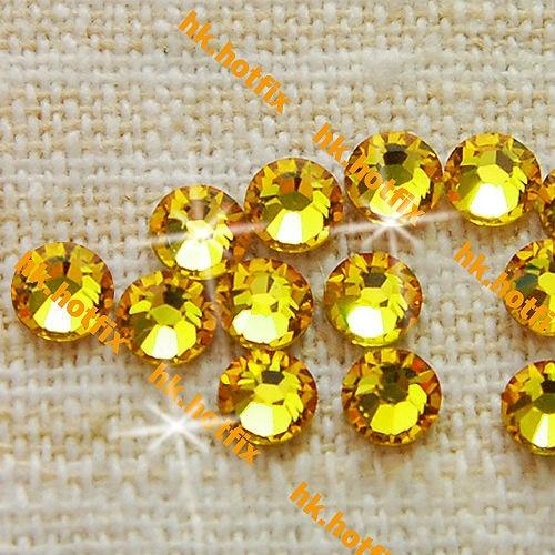 ss20 GENUINE Swarovski Elements Light Topaz ( 226 ) 288 pcs ( NO hotfix  Rhinestone ) Round Glass 20ss 2058 FLATBACK Bulk Crystal-in Stones from  Home ... c198aeb3bc3e