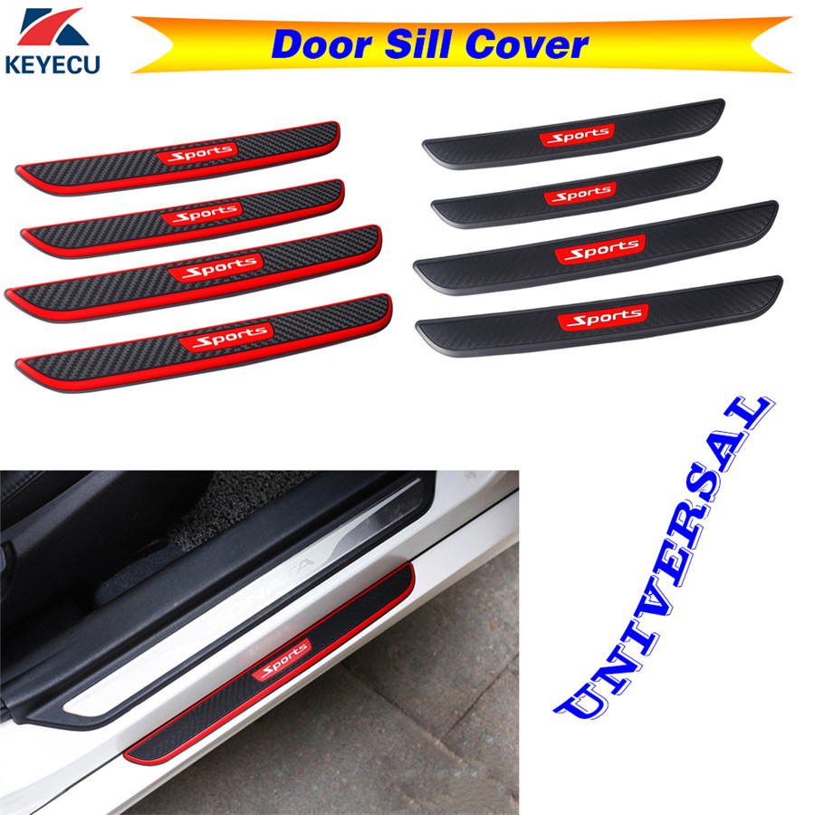 HUAQIEMI 4Pcs Car Stainless Steel Kick Plates Anti-scratch Welcome Pedal Sticker Scuff Threshold Cover Protection Plate for Nissan JUKE 2010-2020 Door Sill Trim Accessories