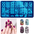 1pc Nail Art Metal Plate Template Image Stamping Plates DIY Manicure Printing Template Plate Tool 10 Styles For Choice Y2