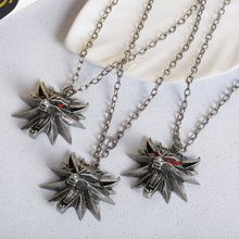 2018 Top quality the Witcher pendant medallion wizard wolf 3 Medallion Pendant Necklace Wolf Head Necklace Jewelry Woman collar(China)