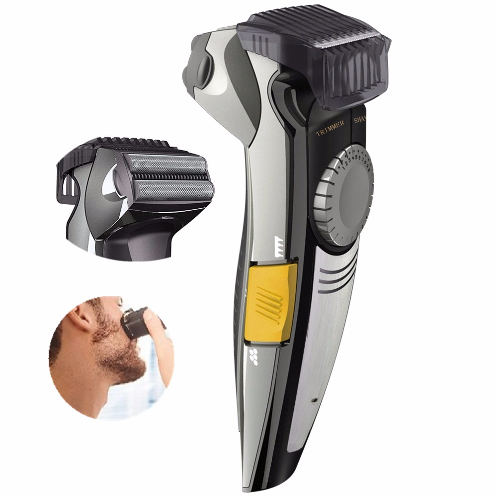 2in1 professional beard stubble trimmer for men shaver electric shaving machine trim face. Black Bedroom Furniture Sets. Home Design Ideas