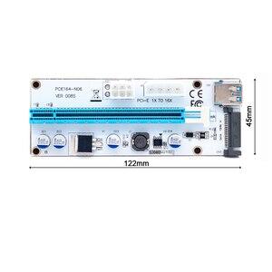 008 PCIe PCI-E PCI Express Riser Karte 1x zu 16x USB 3.0 Daten Kabel SATA zu 4Pin IDE Molex Power Versorgung für BTC Miner Maschine