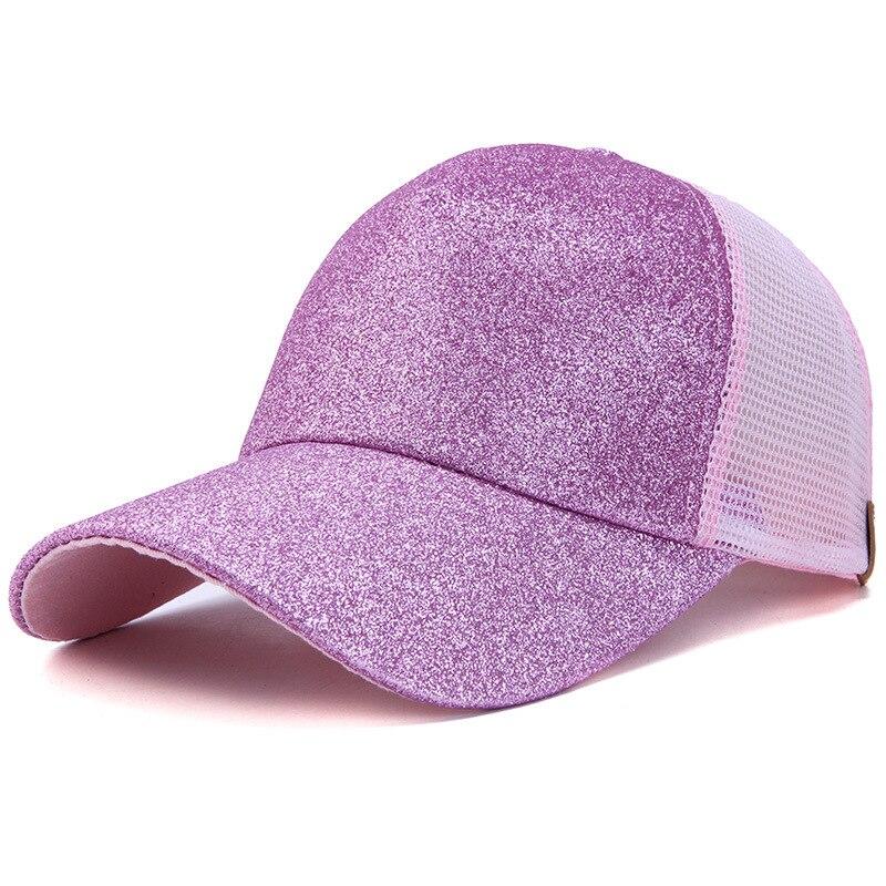 8b2498d8518b0 Ponytail cap 2018 Glitter Women Baseball Cap Girls messy bun baseball Caps  Snapback Summer Sports Mesh Hats wholesale-in Baseball Caps from Apparel ...